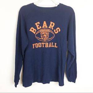 NFL Vintage Chicago Bears Waffle Long Sleeve Top L